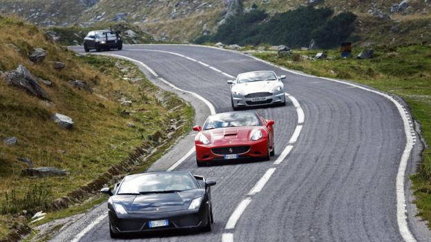 Racing down Romania's second-highest road (Credit: Ana Poenariu/AFP/Getty Images)
