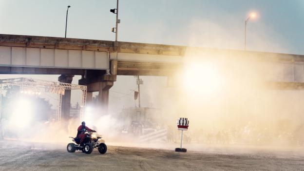ATVs under the bridge (Credit: Thomas Prior)