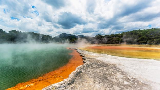One of Rotorua's thermal lakes (Credit: Roberto Saltori/Getty)
