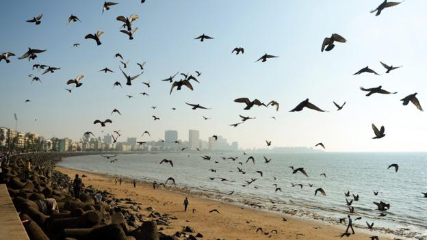 Mumbai's Chowpatty Beach (Credit: Punit Paranjpe/AFP/Getty)