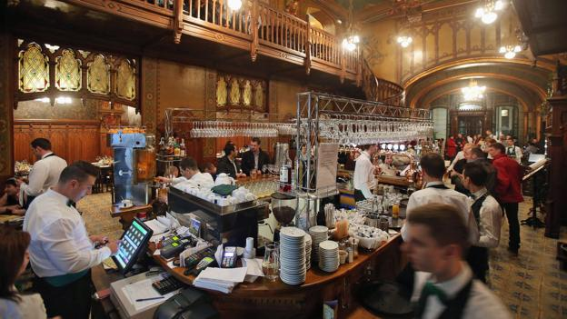 The opulent Caru cu Bere beer hall (Credit: Sean Gallup/Getty)