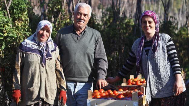 Tomato farmers – and new friends (Credit: Candace Rardon)