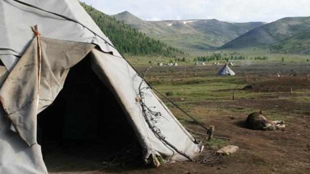 A tepee entrance (Credit: Anna Kaminski)