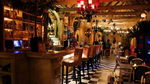 A bohemian bar in Cape Town (Credit: Gianluigi Guercia/AFP/Getty)