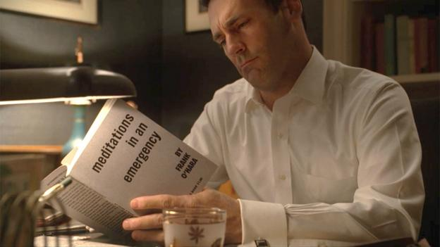 Don Draper reads Frank O'Hara's Meditations in an Emergency