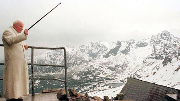 Pope John Paul II looks down on his beloved Tatra Mountains (Credit: Staff/AFP/Getty Images)