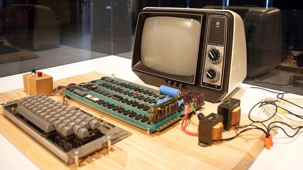Make sure it's not valuable, like this Apple-1 computer. (Justin Sullivan/Getty Images)