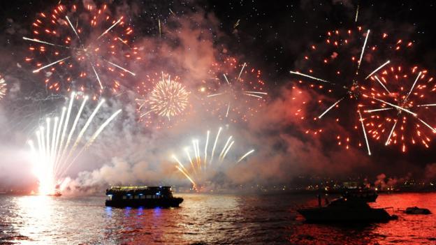Republic Day fireworks (Credit: Bulent Kilic/AFP/Getty)