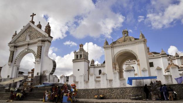 The Our Lady of Copacabana sanctuary (Credit: Aizar Raldes/AFP/Getty)