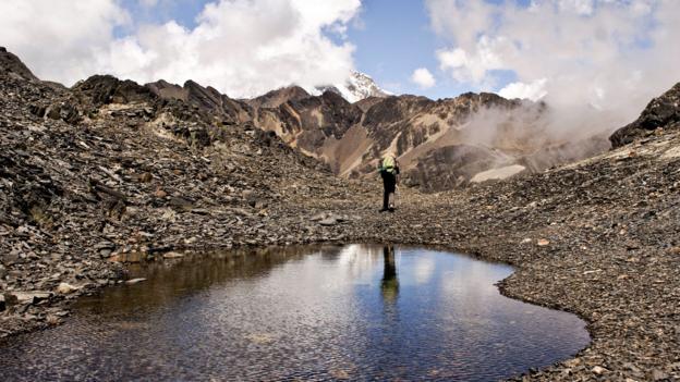 Trekking around the backside of Huayna Potosi (Credit: Jarod Rawsthorne/Getty)