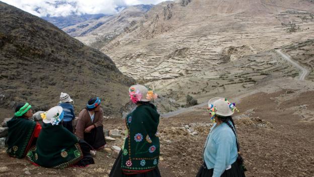 Kallawaya people hike through the mountains north of Lake Titicaca (Credit: Ben Speck and Karin Ananiassen/Getty)