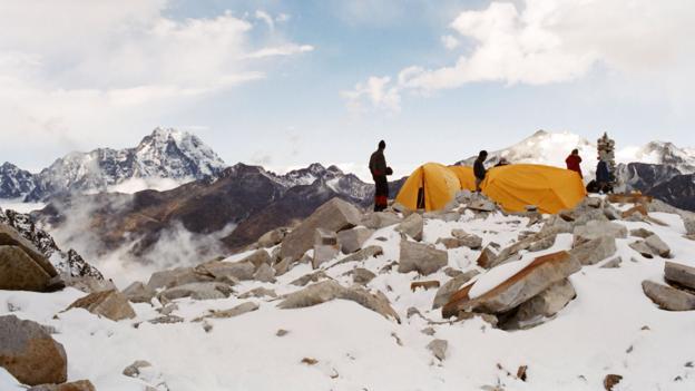 Base camp on Huayna Potosi (Credit: Mark Chivers/Robert Harding/Getty)