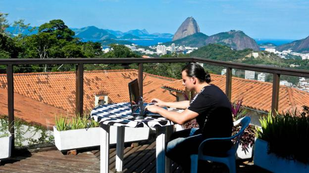The Rio de Janeiro skyline makes for an amazing office view (Credit: Marcello Arrambide)