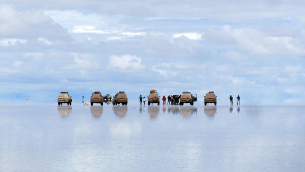 Visiting the salt flats in Bolivia (Credit: Marcello Arrambide)