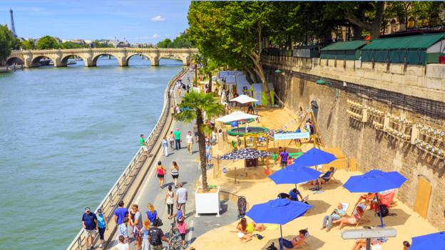 Paris Plages (Credit: Pawel Libera/LightRocket via Getty Images)