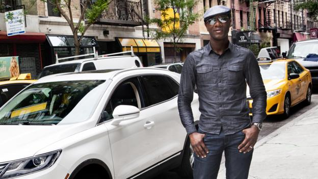 photo of Aloe Blacc Mercedes Benz A-Class - car