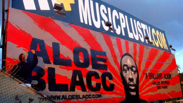 Blacc's billboard in Los Angeles (Credit: Courtesy Known Gallery)