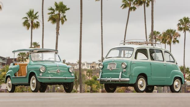 1957 Fiat 600 Multipla & 1961 Fiat 500 Jolly (Credit: Courtesy RM Auctions)