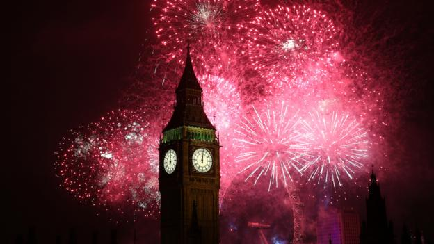 Big Ben at New Year's (Credit: Peter Macdiarmid/Getty)