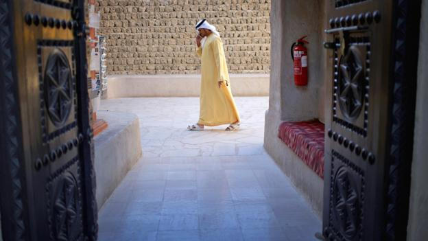 Through a Dubai doorway (Credit: Christopher Furlong/Getty)
