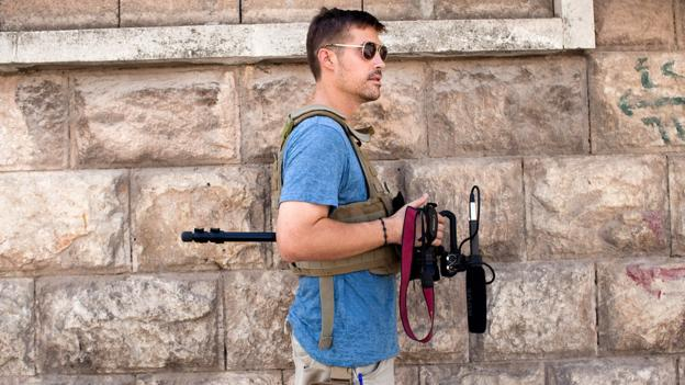 James Foley in Aleppo, Syria, in August, 2012. (Nicole Tung)