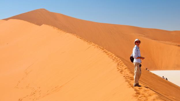 Dan in the desert of Namibia (Credit: Audrey Scott)