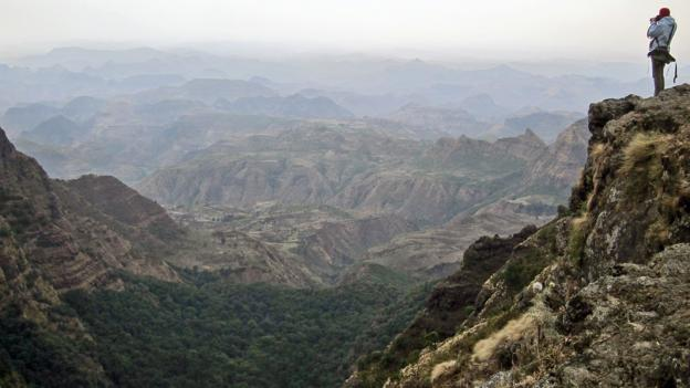 Audrey at work in Ethiopia's Simien National Park (Credit: Daniel Noll)
