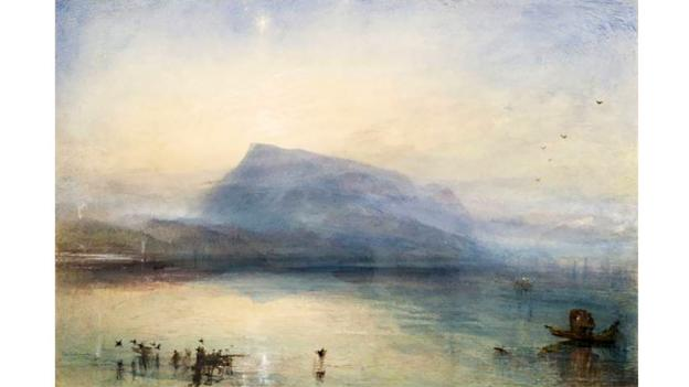 JMW Turner, The Blue Rigi 1841-2 (Credit: Tate)