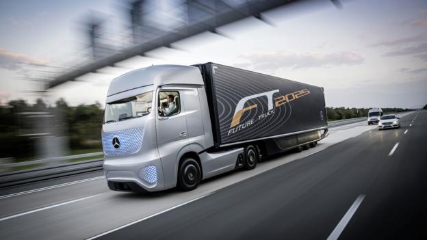 bbc autos mercedes self driving truck. Black Bedroom Furniture Sets. Home Design Ideas