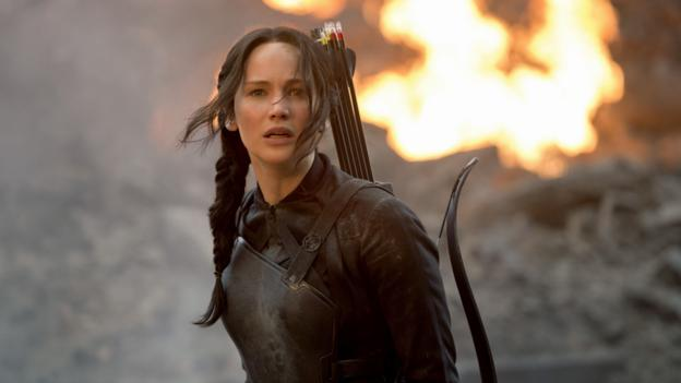 Jennifer Lawrence in The Hunger Games: Mockingjay – Part 1(Lionsgate)