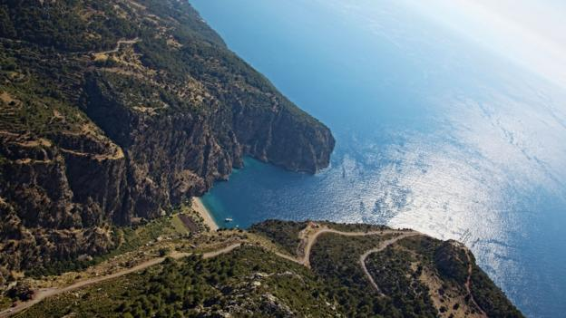 An aerial view of Turkey's Butterfly Valley (Credit: Scpist/Getty)