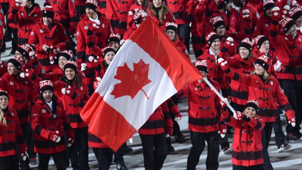 Canadian athletes at the Sochi Winter Olympics (Credit: Credit: Jonathan Nackstrand/AFP/Getty)