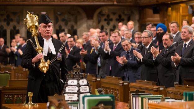 Kevin Vickers honoured in Parliament in October 2014 (Credit: Credit: Jason Ransom/PMO/Getty)