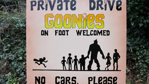 Sign near the Goondocks house (Credit: Credit: David G Allan)