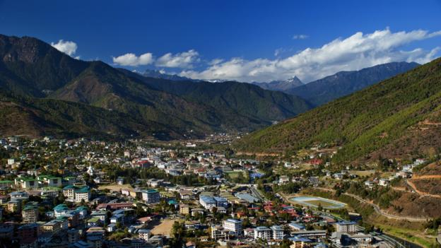 Thimphu, capital of Bhutan (Credit: Credit: Thomas Halle/Getty)