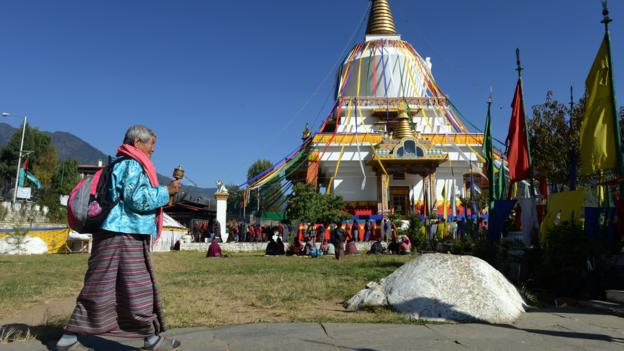 Memorial Chorten Monastery in Thimphu (Credit: Credit: Prakash Mathema/AFP/Getty)