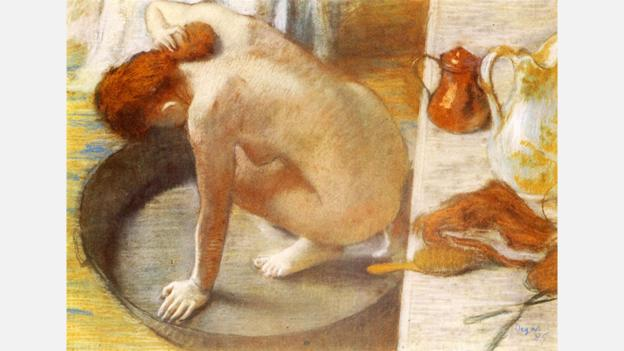 The composition of Degas' The Tub shows a heavy debt to Japanese printmaking (Credit: Credit: Edgar Degas/Musée d'Orsay, Paris)