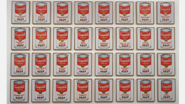 Warhol's 1962 work Campbell's Soup Cans