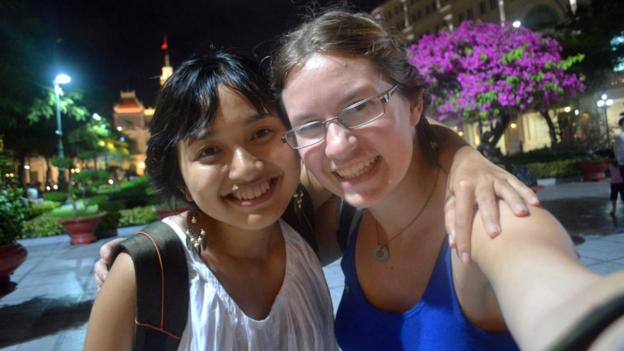 Making friends in Ho Chi Minh City, Vietnam (Credit: Credit: Rebecca Isaak)