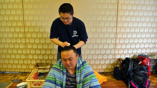 sumo, wrestling, Japan, Osaka, Asia, culture (Credit: Credit: Matthew Bremner)