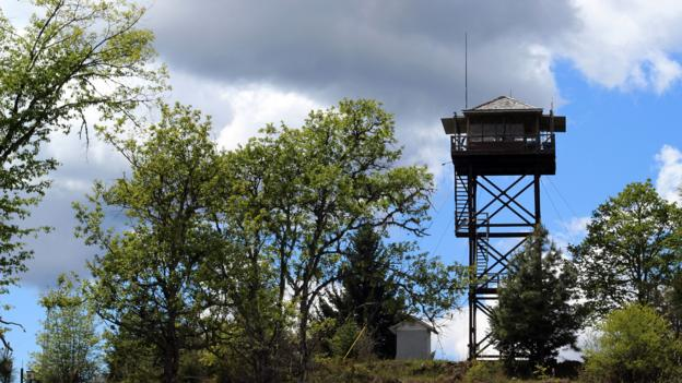 The fire tower in Pickett Butte (Credit: Credit: Britany Robinson)