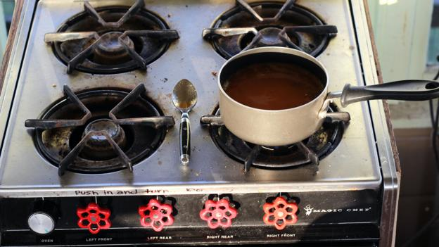 The little gas stove (Credit: Credit: Britany Robinson)
