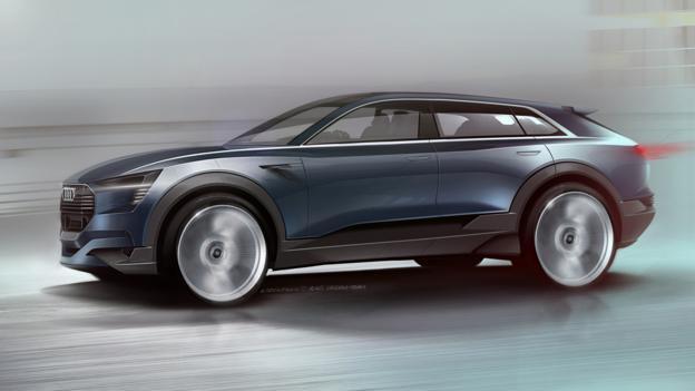 BBC - Autos - Audi's Frankfurt-bound electric SUV takes shape