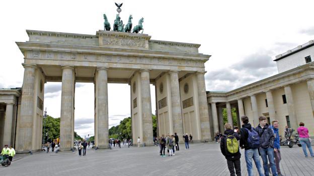 Walking through Brandenburg Gate (Credit: Credit: Joe Baur)
