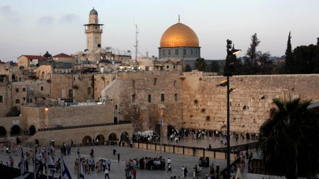 Dome of the Rock and the Western Wall in Jerusalem's Old City (Credit: Credit: Gali Tibbon/Getty)