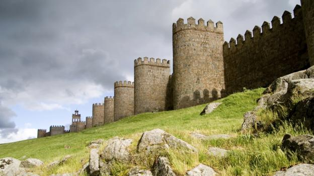 Medieval walls surround Ávila, Spain (Credit: Credit: Matt Trommer/Thinkstock)