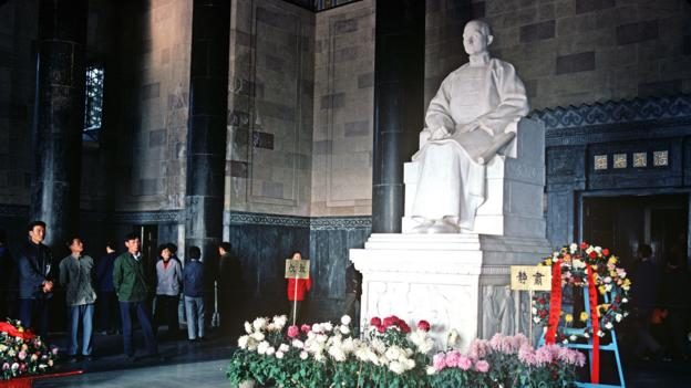 The stone image of Chinese leader Sun Yat-sen (Credit: Credit: Alain Le Garsmeur/Getty)