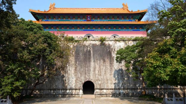 The Xiaoling mausoleum in the foothills of Zhongshan (Credit: Credit: traveler1116/iStock)