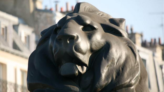 The lion in the Denfert-Rochereau circle (Credit: Credit: Gilles Targat/Photos 12/Alamy)