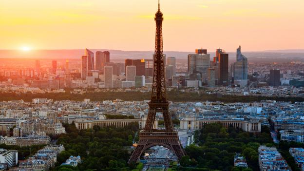 An aerial view of Paris (Credit: Credit:John Kellerman/Alamy)